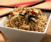 Chicken with rice and mushrooms